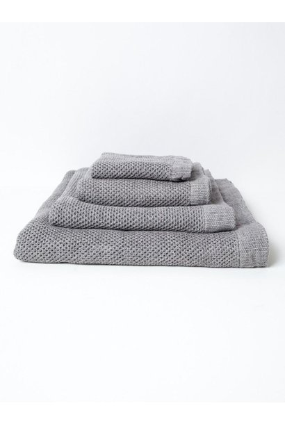 Lattice Hand Towel - Ice Grey