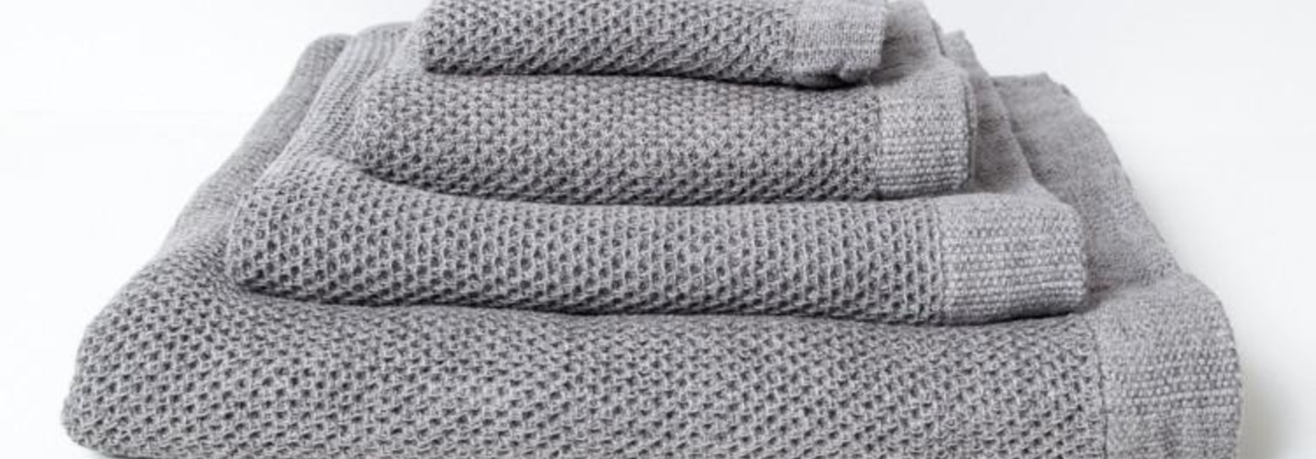 Lattice Bath Towel - Ice Grey