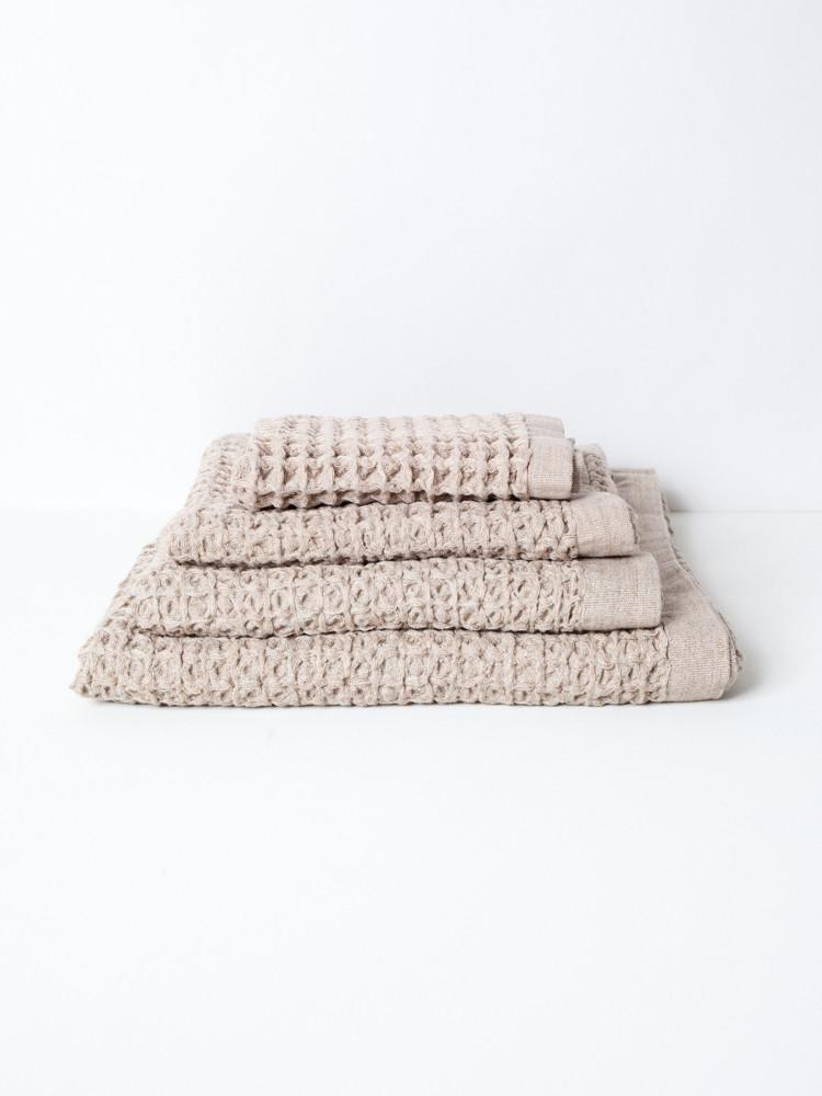 Lattice Bath Towel XL - Beige-1