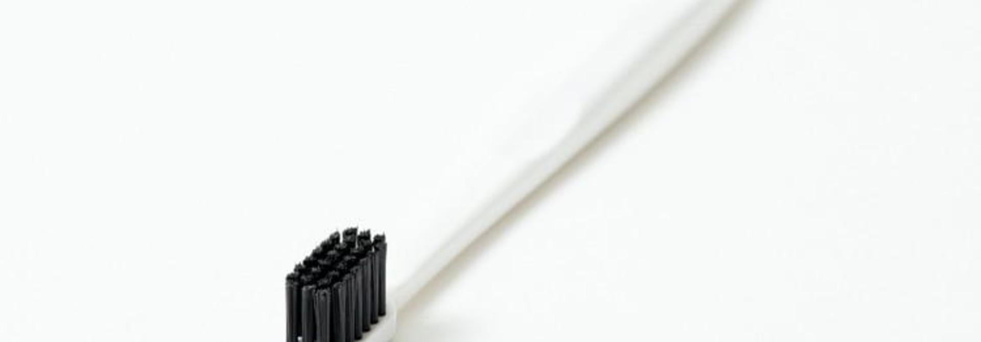Binchotan Charcoal Toothbrush - Standard, White