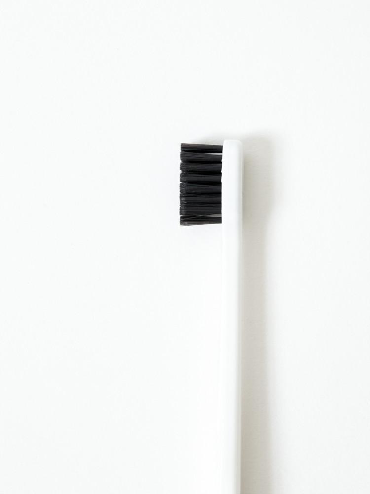 Binchotan Charcoal Toothbrush - Standard, White-2