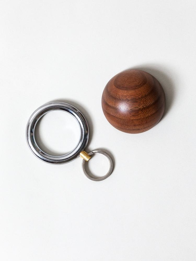 Timbre WAKKA Key Holder - Chrome/Walnut-2
