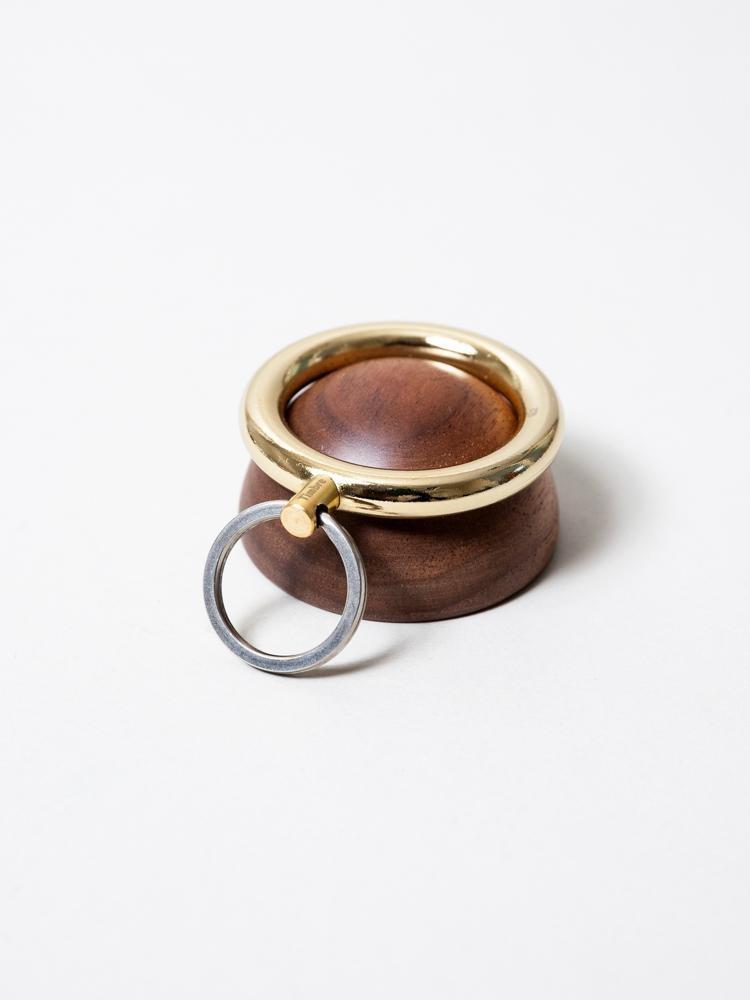 Timbre WAKKA Key Holder - Gold/Walnut-3