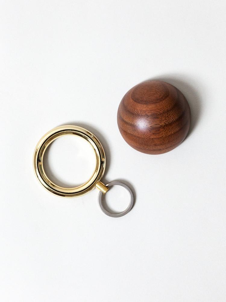 Timbre WAKKA Key Holder - Gold/Walnut-2