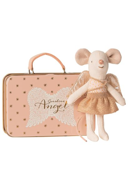Guardian Angel in Suitcase - Little Sister Mouse