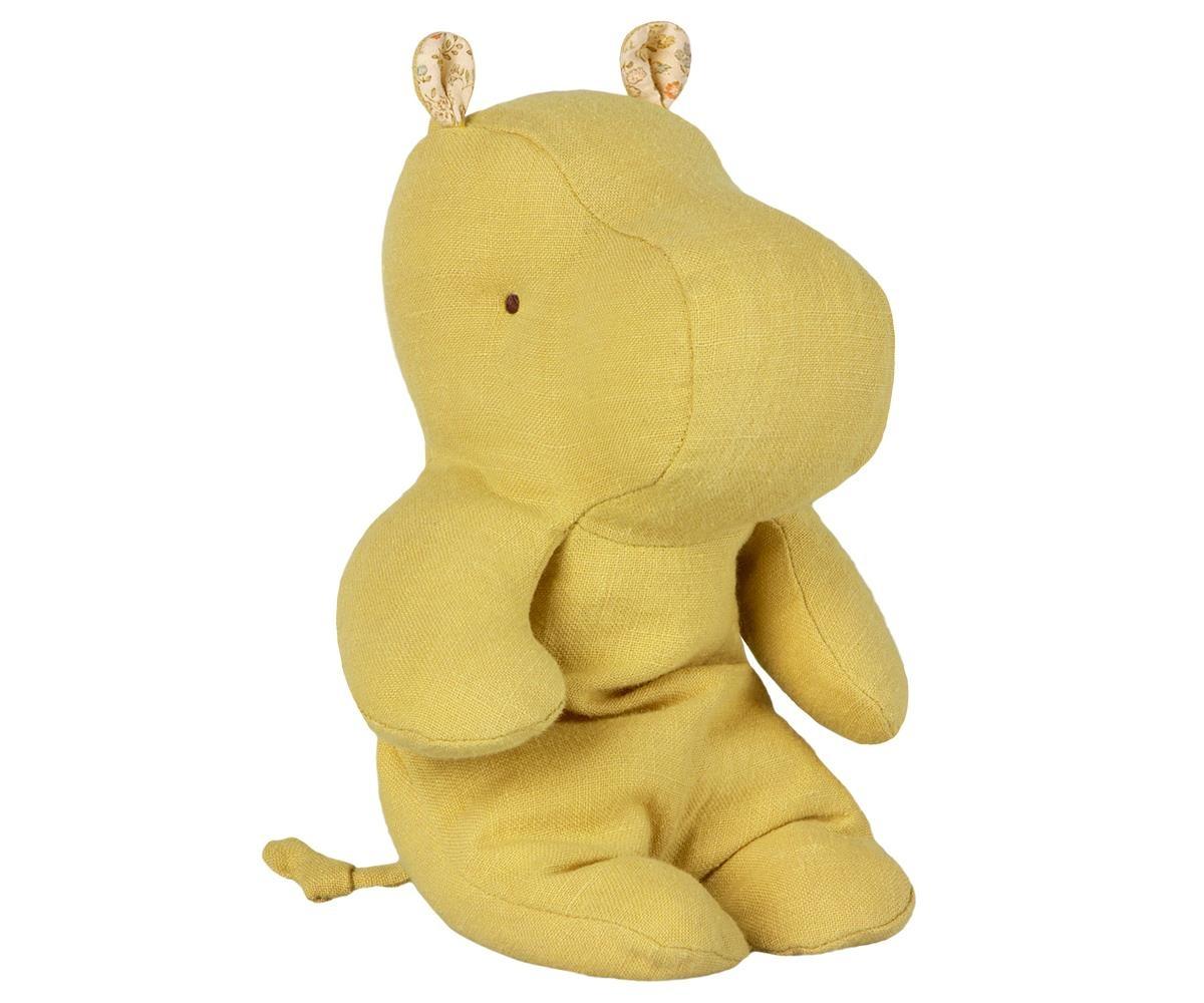Safari Friends, Small Hippo - Lime Yellow-1