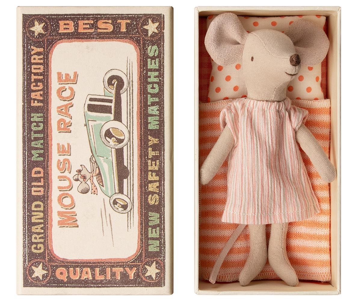Big Sister Mouse in Box - Orange Stripe-1