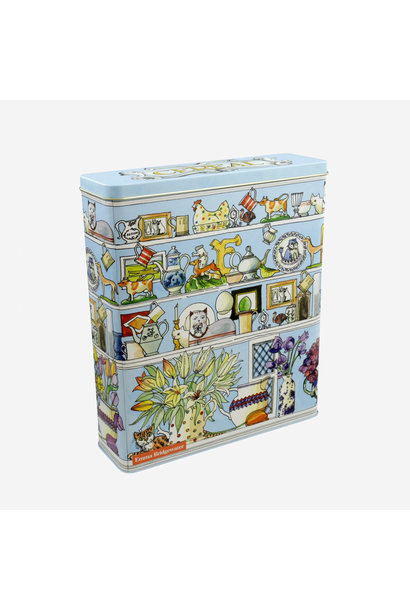 Setting Up Home - Tall Long Rectangular Cereal Tin