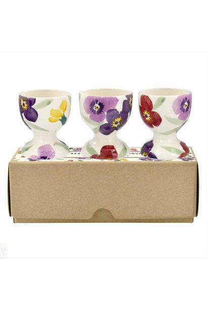 Wallflower - Set of 3 Egg Cups Boxed