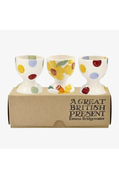 Daffodil & Polka Dot - Set of 3 Egg Cups Boxed