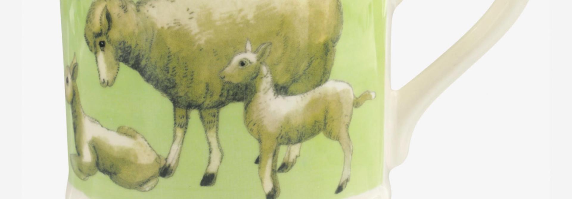 Bright New Morning Spring Lambs - 1/2 Pint Mug