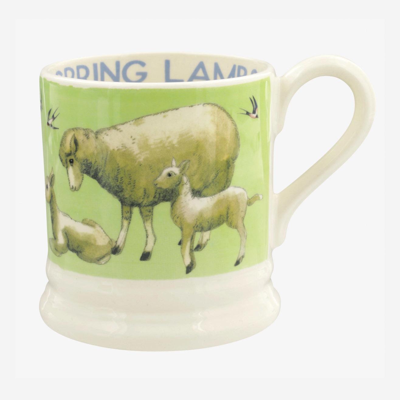Bright New Morning Spring Lambs - 1/2 Pint Mug-1