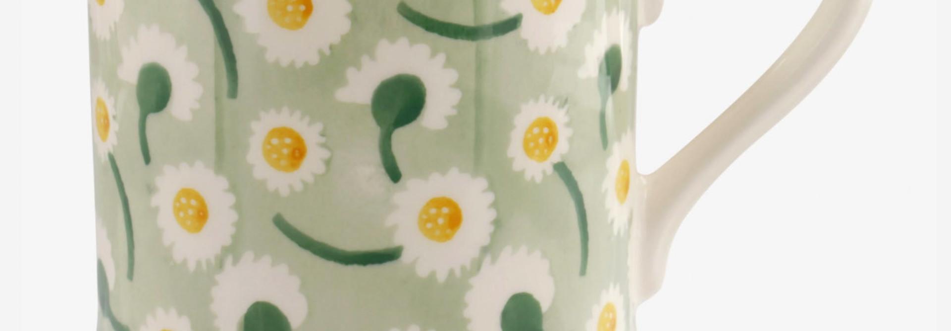 Daisy Light Green - 1/2 Pint Mug