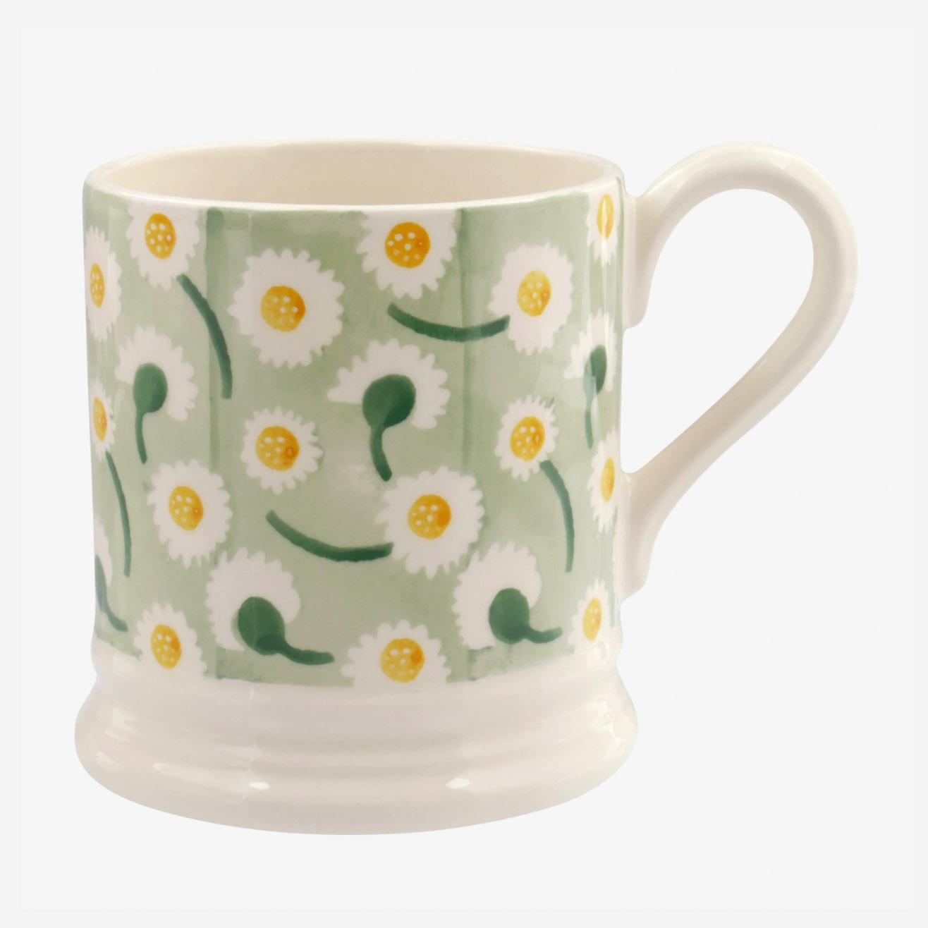 Daisy Light Green - 1/2 Pint Mug-1