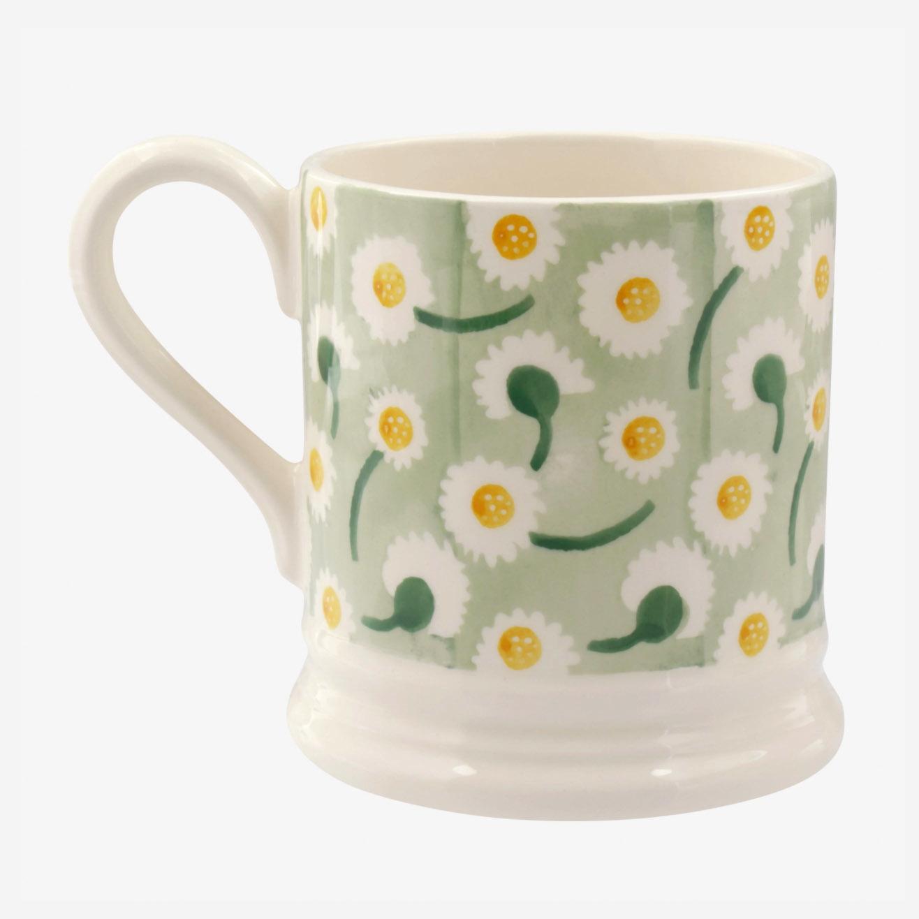 Daisy Light Green - 1/2 Pint Mug-3