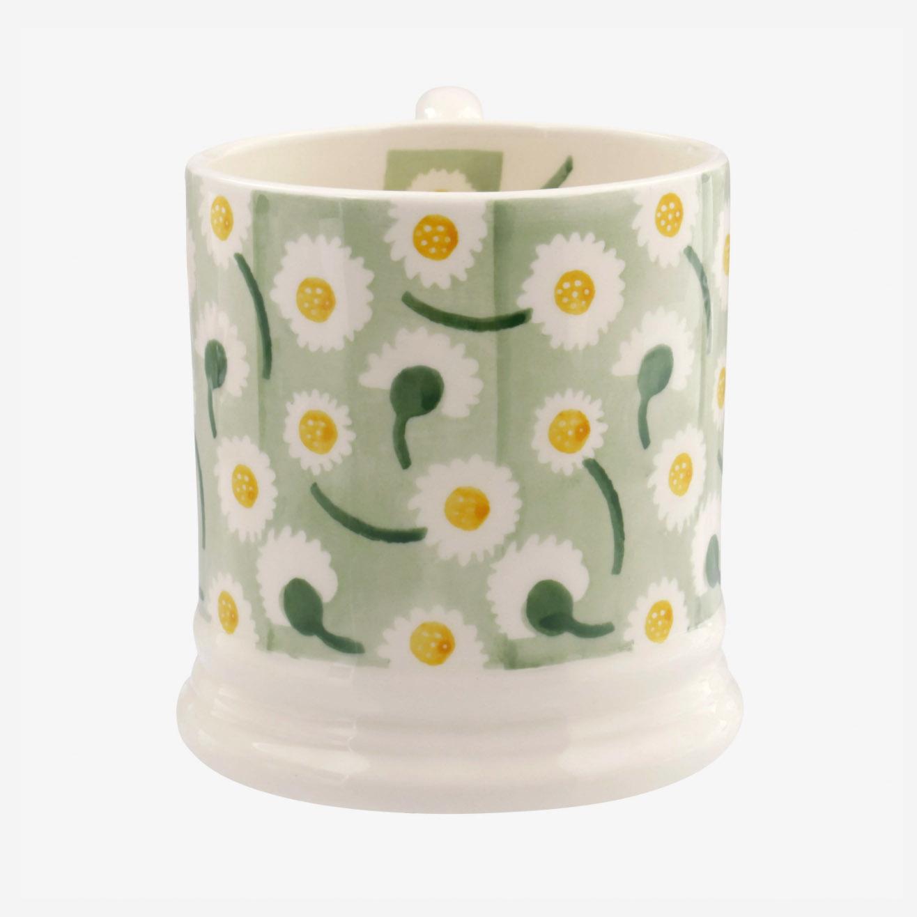 Daisy Light Green - 1/2 Pint Mug-2
