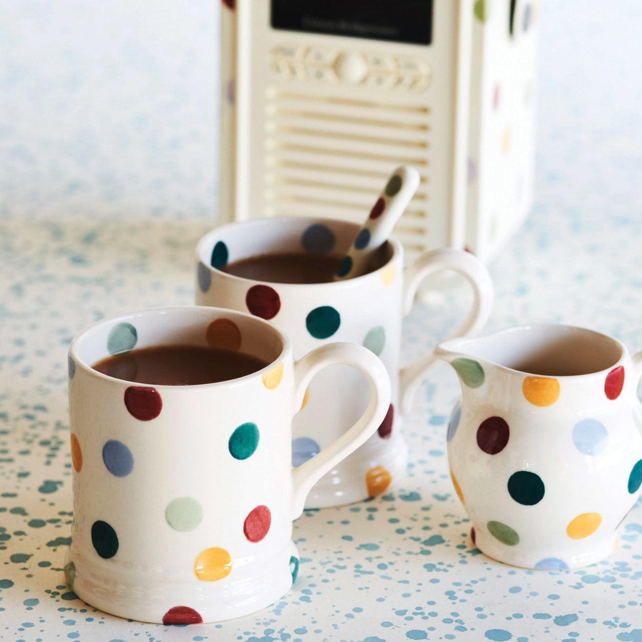 Polka Dot - 1/2 Pint Mug-2