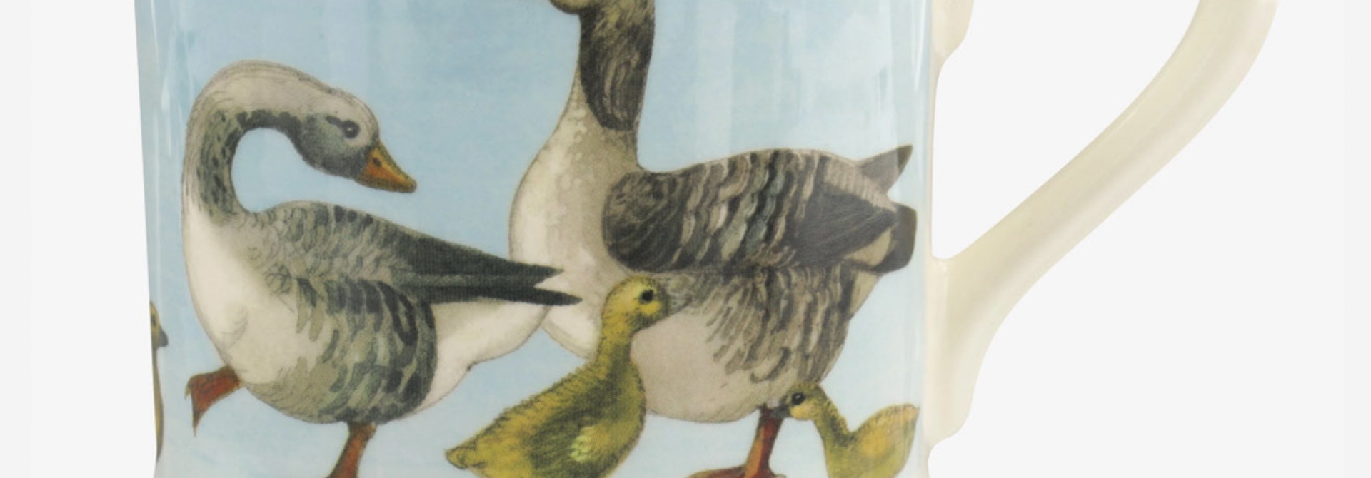 Bright New Morning Goose & Goslings - 1/2 Pint Mug