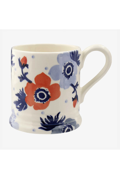 Red & Blue Anemone - 1/2 Pint Mug
