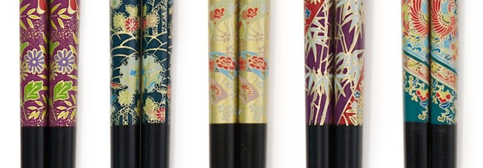 Assorted Chopsticks set (4) - Kimono Print