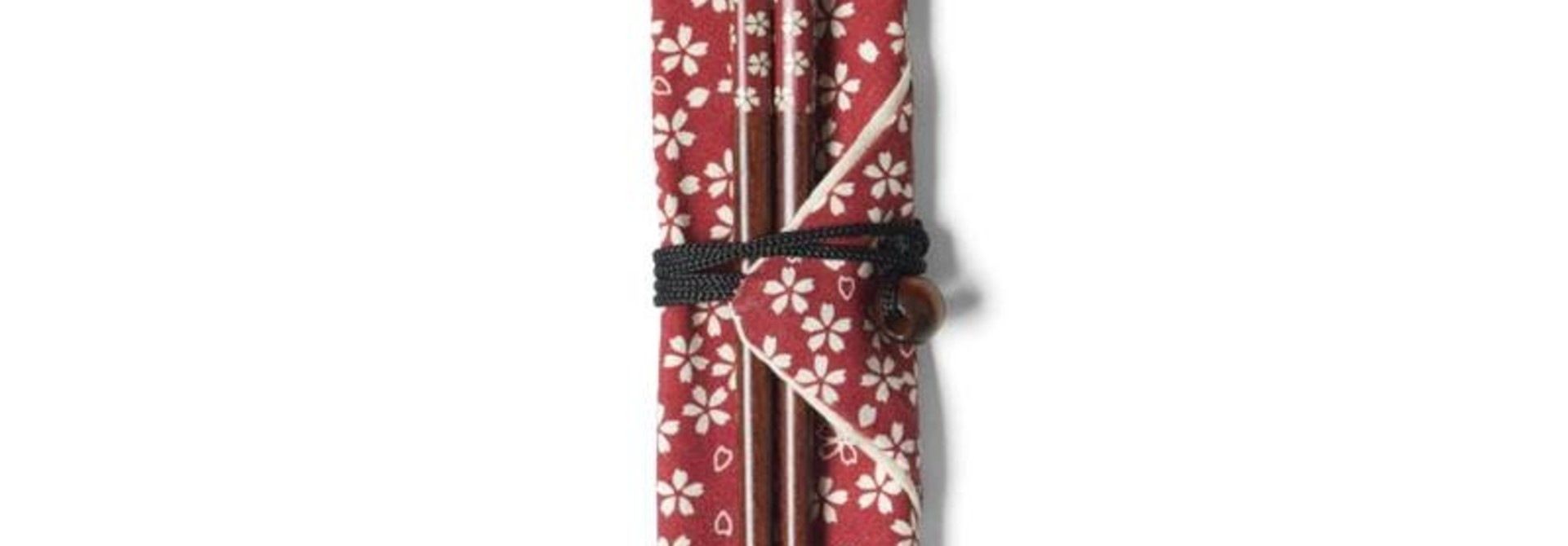 Red Blossoms Chopsticks With Carrying Case