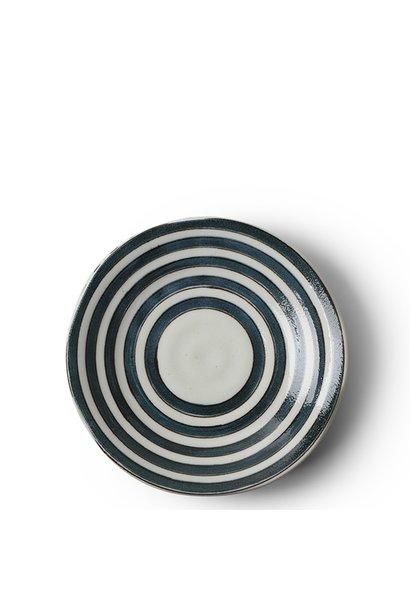 """Teal Rings 6.5"""" Plate"""