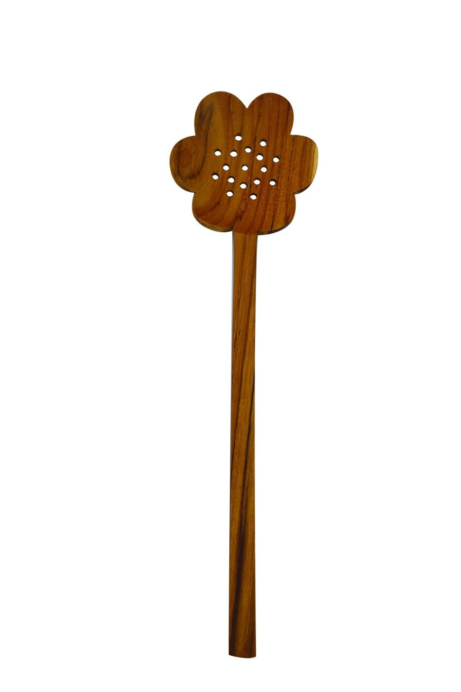 Teak Flower Strainer Spoon-1