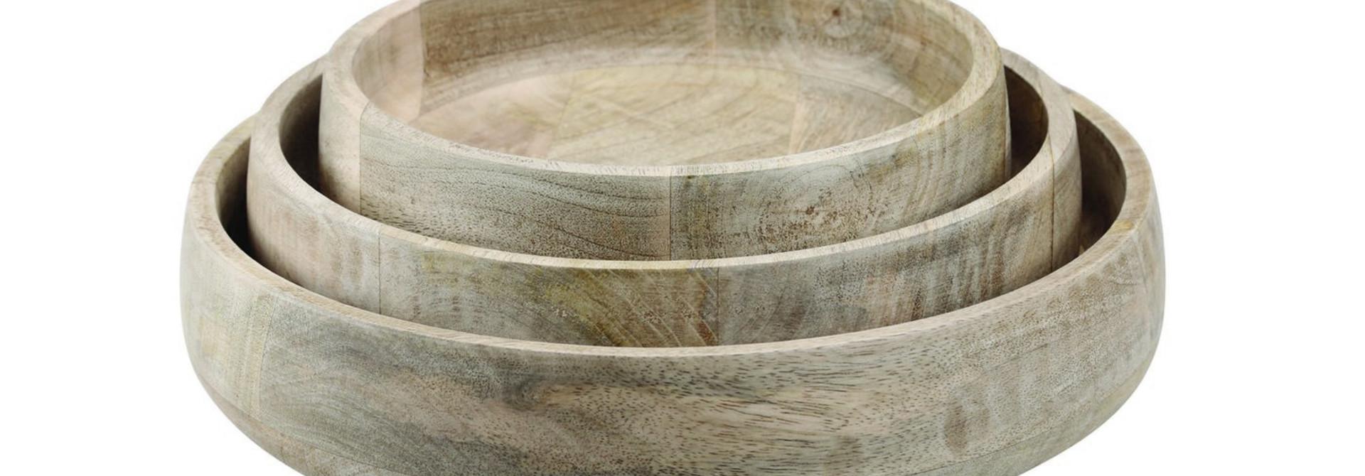 Natural Mango Wood Serving Bowl - Small