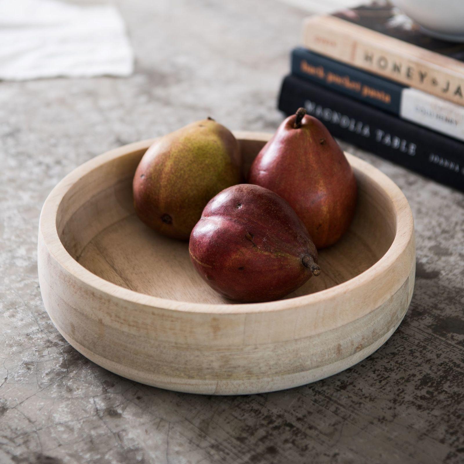 Natural Mango Wood Serving Bowl - Small-2
