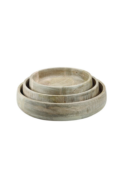 Natural Mango Wood Serving Bowl - Large