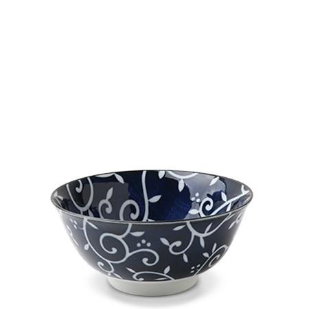 "Blue & White Karakusa 5.75"" Bowl-1"