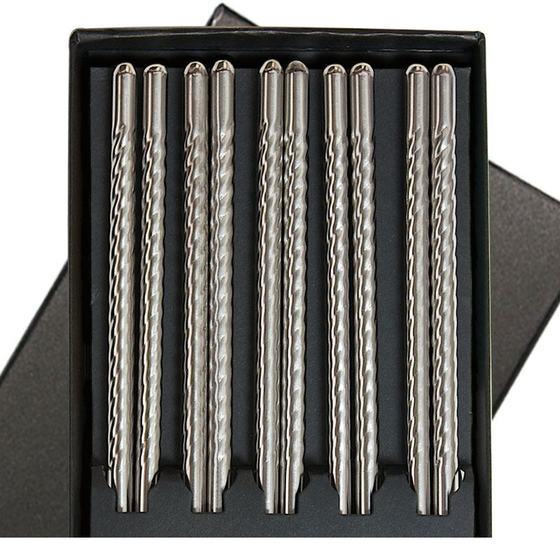 Stainless Steel Chopsticks Boxed Set-1