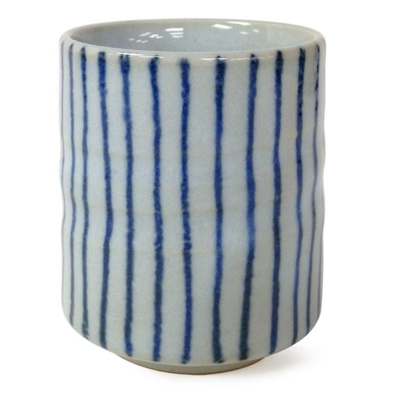 Tokusa Blue Stripes Teacup-1