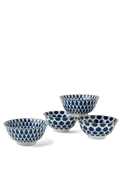 "Blue & White - 6"" Bowl Set (4)"