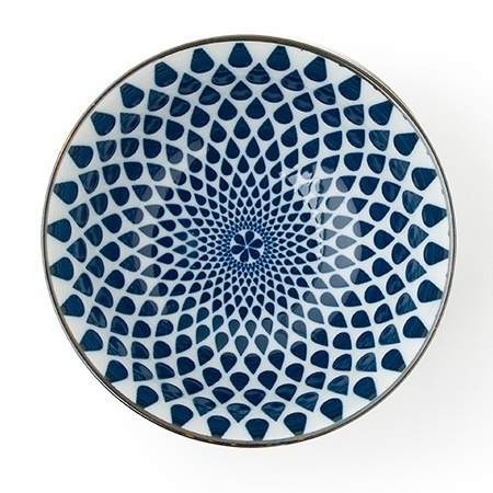 "Blue & White - 6"" Bowl Set (4)-2"