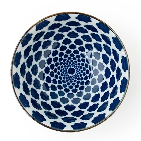 "Blue & White - 6"" Bowl Set (4)-3"