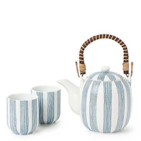 Obi Blue Stripe - Tea Set-1
