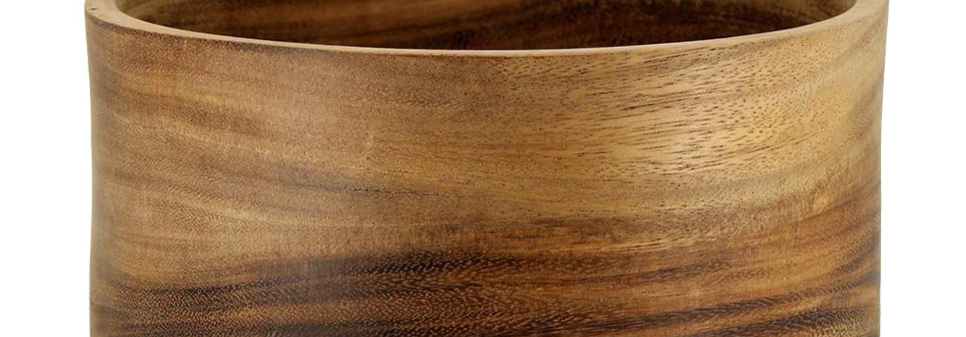 Acacia Wood Serving Bowl - Medium