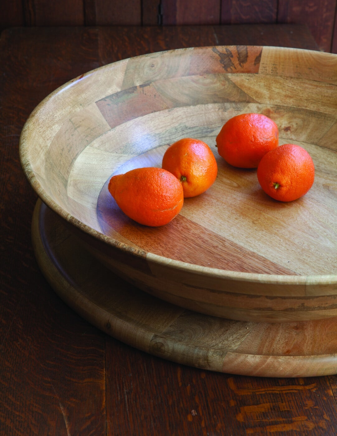 Mango Wood Round Bowl  - XL-2