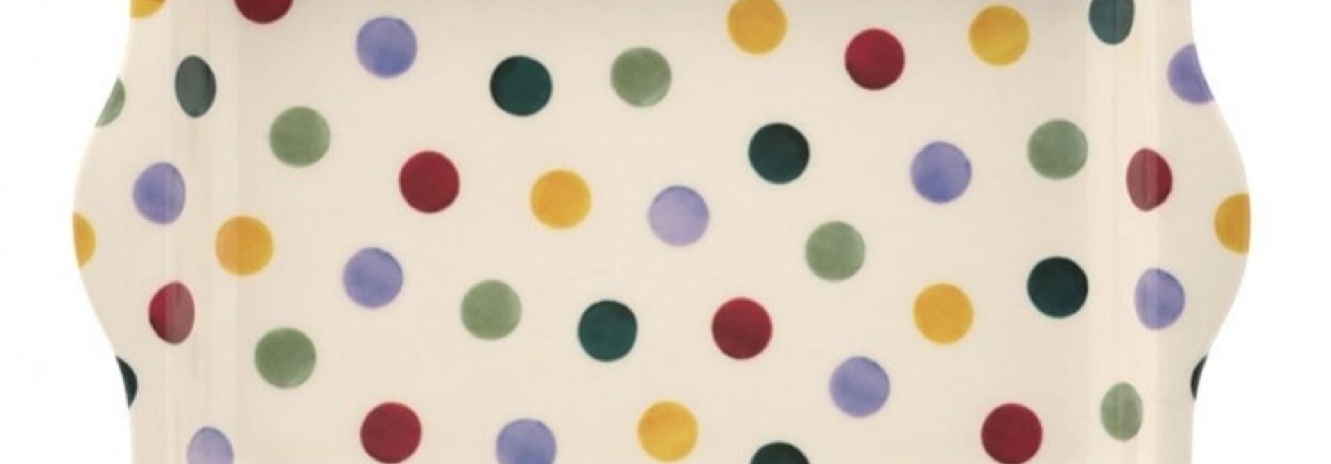 Polka Dot - Small Melamine Tray