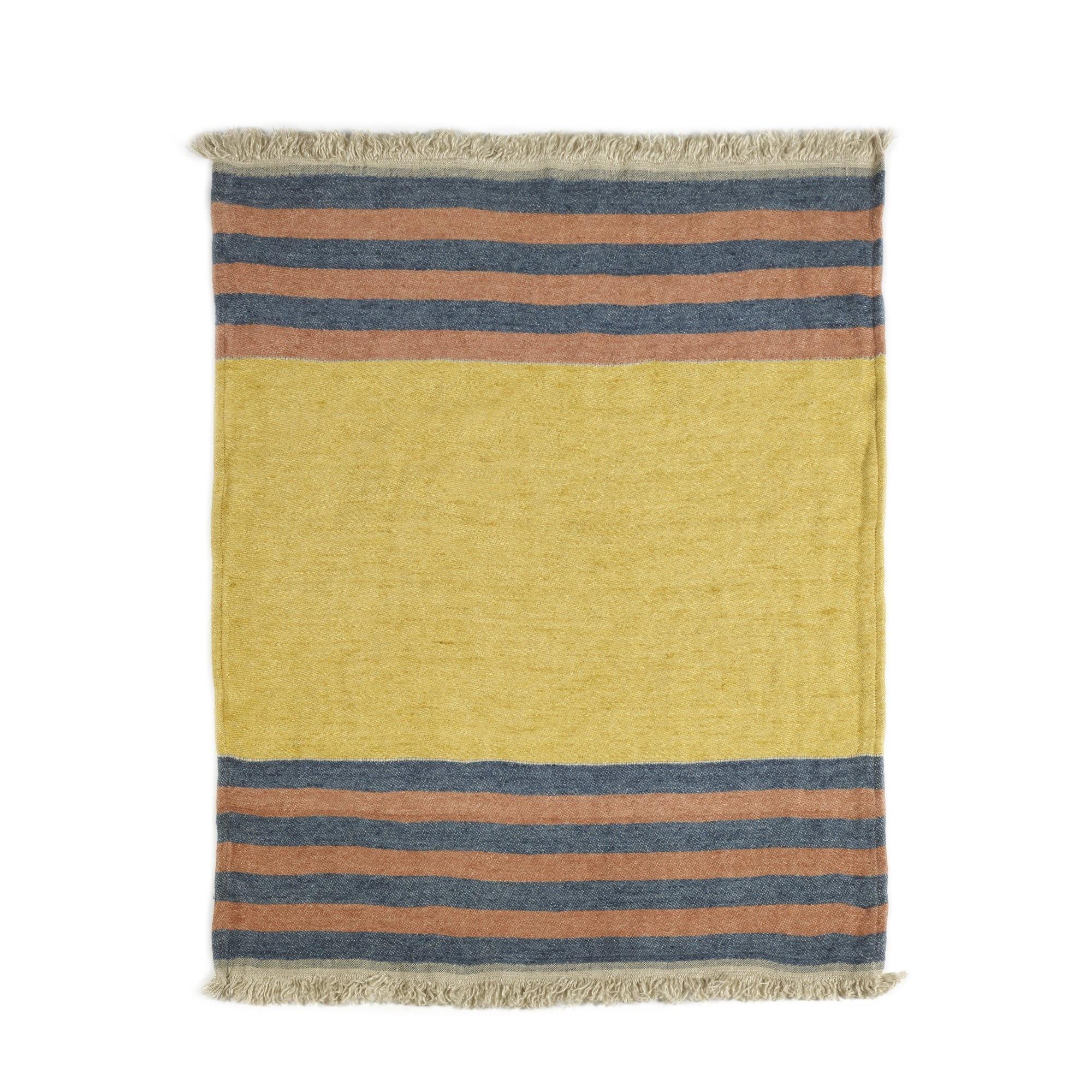 Red Earth Stripe - Bath Towel-2