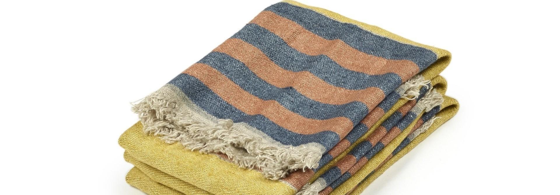 Red Earth Stripe - Bath Towel