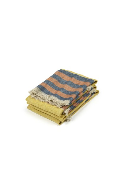 Red Earth Stripe - Bath Towel