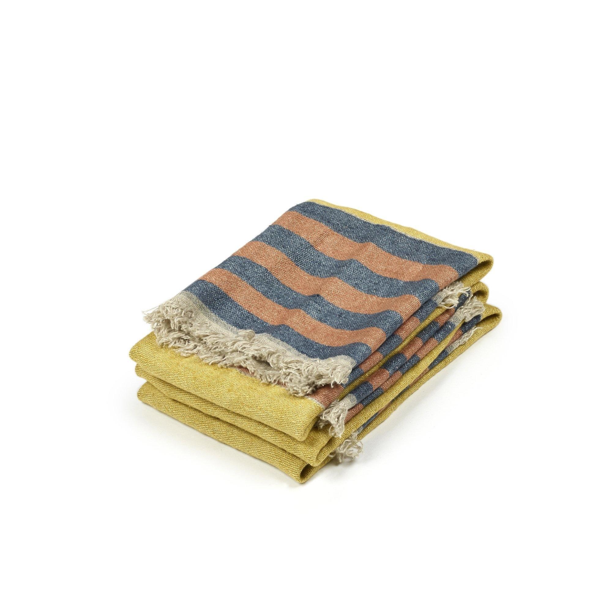 Red Earth Stripe - Bath Towel-1