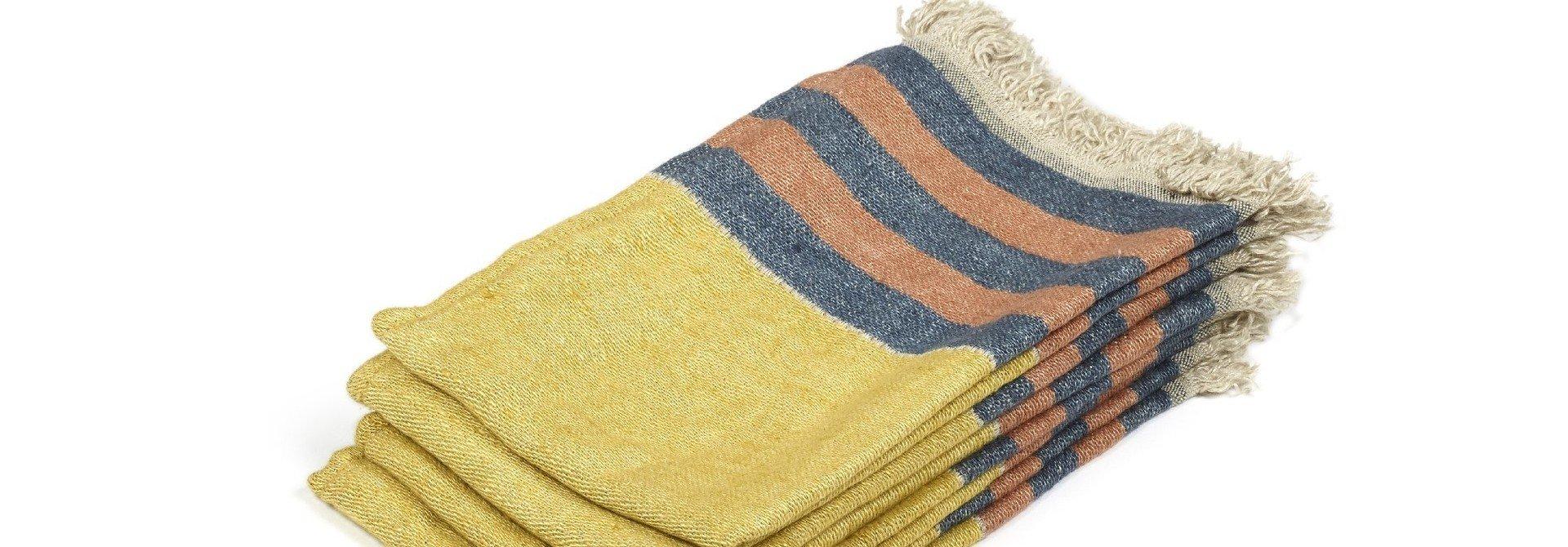 Red Earth Stripe - Hand Towel