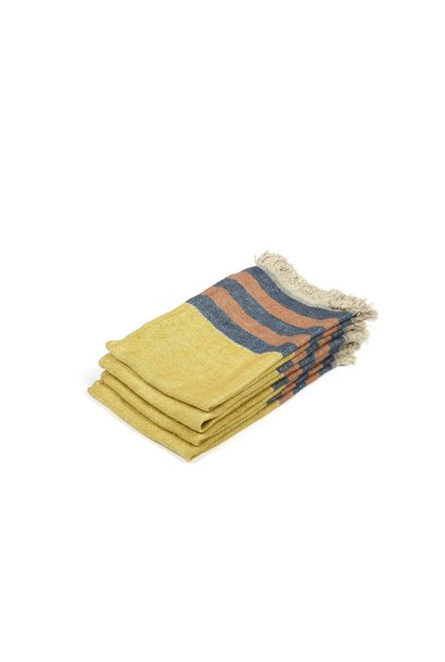 Red Earth Stripe - Hand Towel