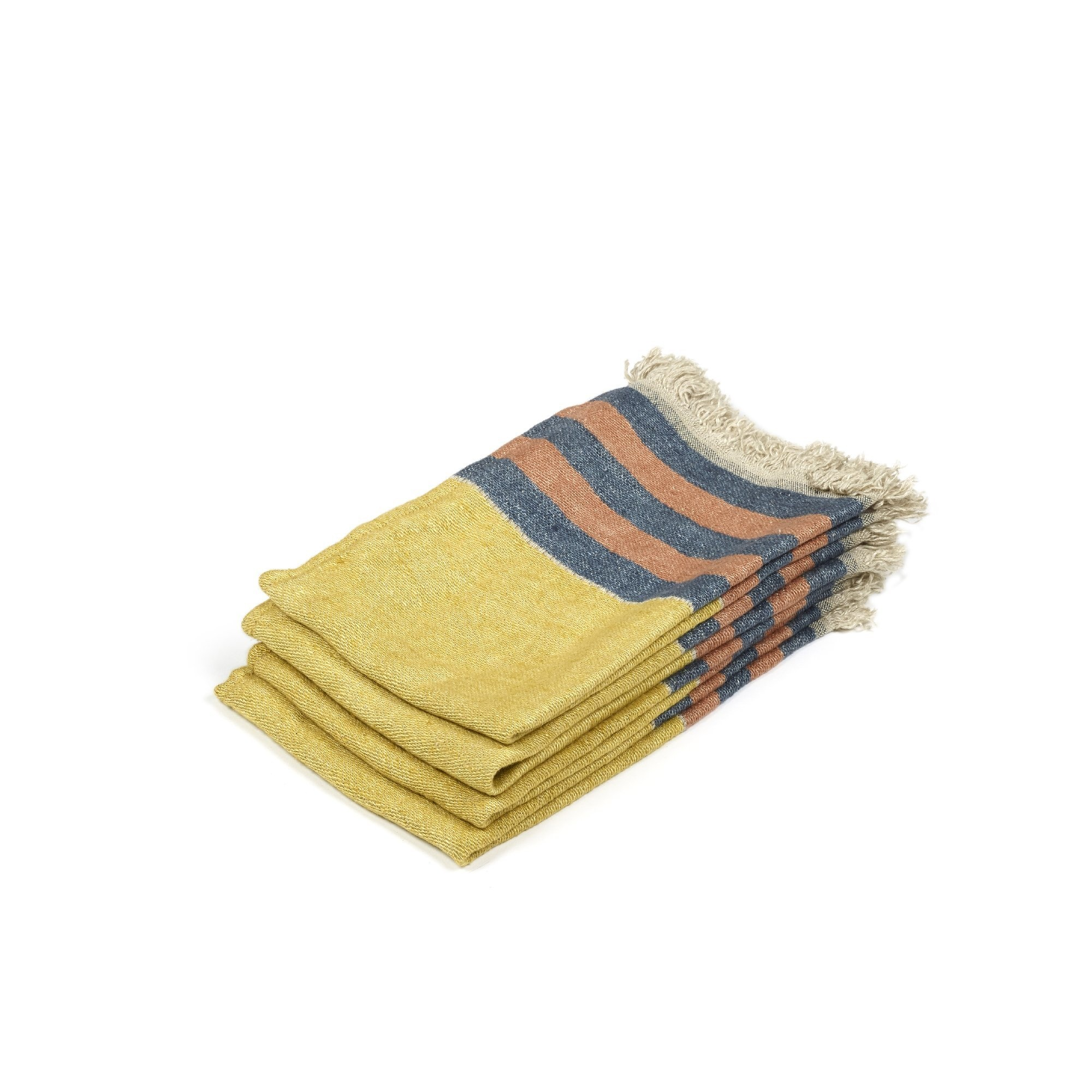 Red Earth Stripe - Hand Towel-1