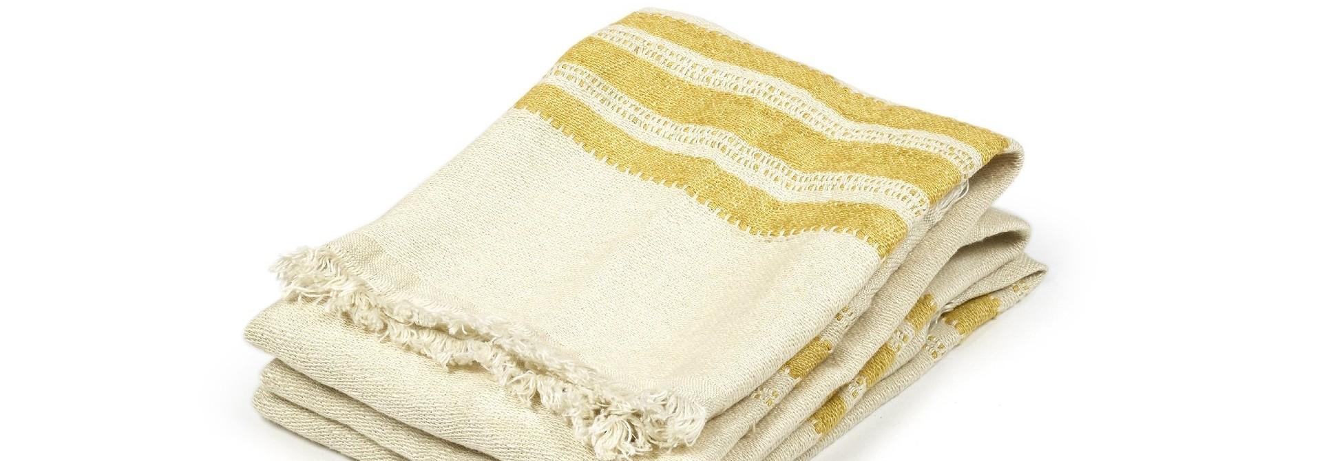 Mustard Stripe - Guest Towel