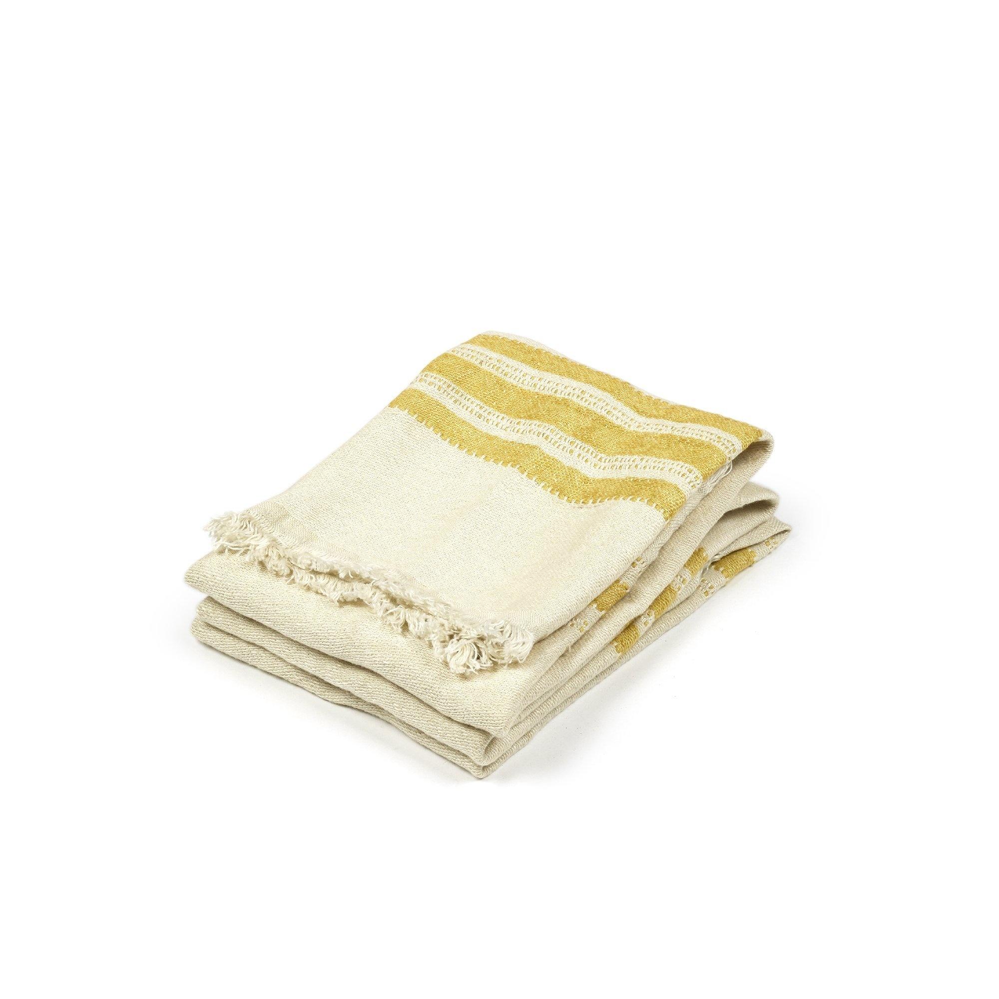 Mustard Stripe - Guest Towel-1