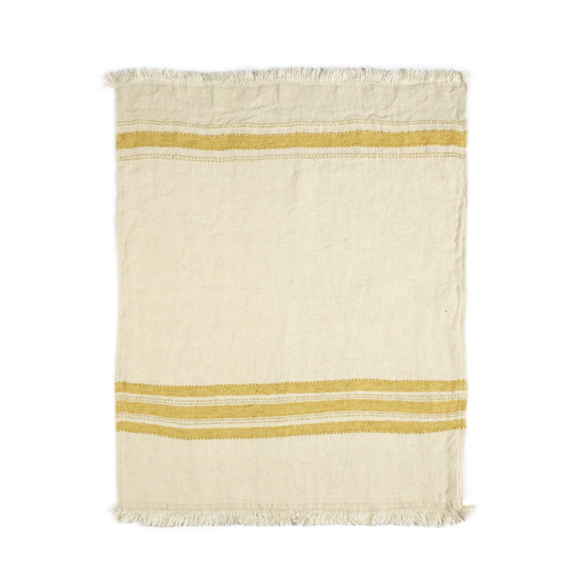 Mustard Stripe - Hand Towel-2